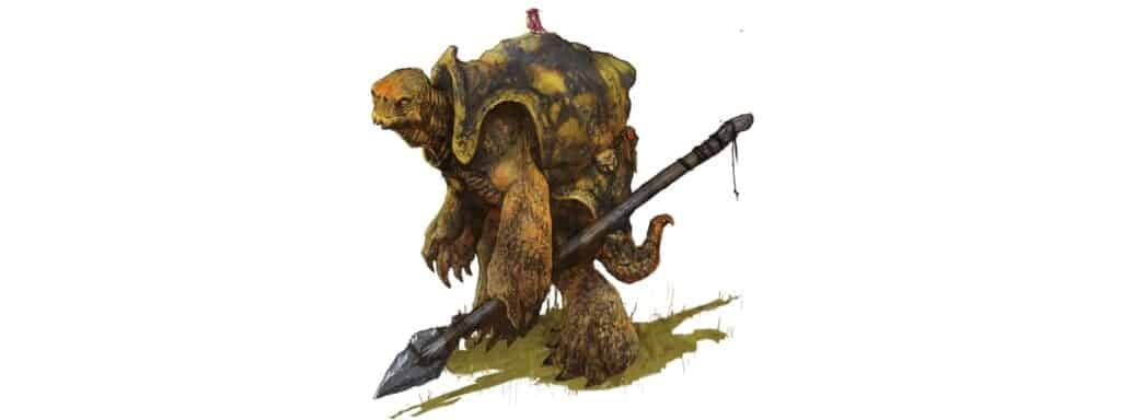 5e Tortle Carrying A Spear