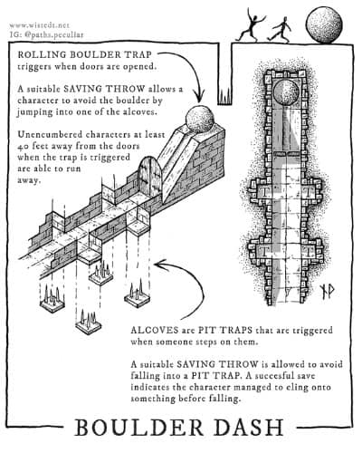 Boulder Dash Trap