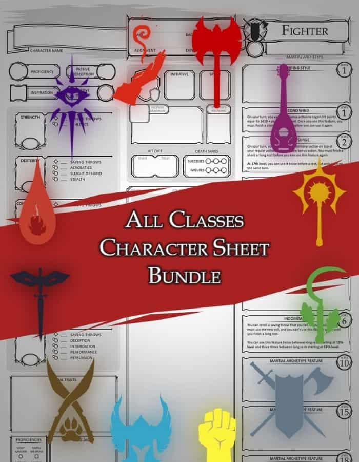 Class Specific Character Sheet DMSGuild
