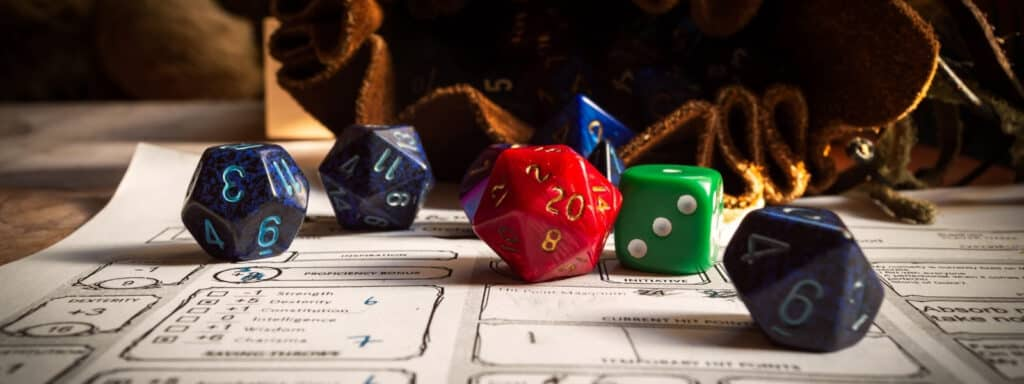 DnD Dice And Character Builder Sheet
