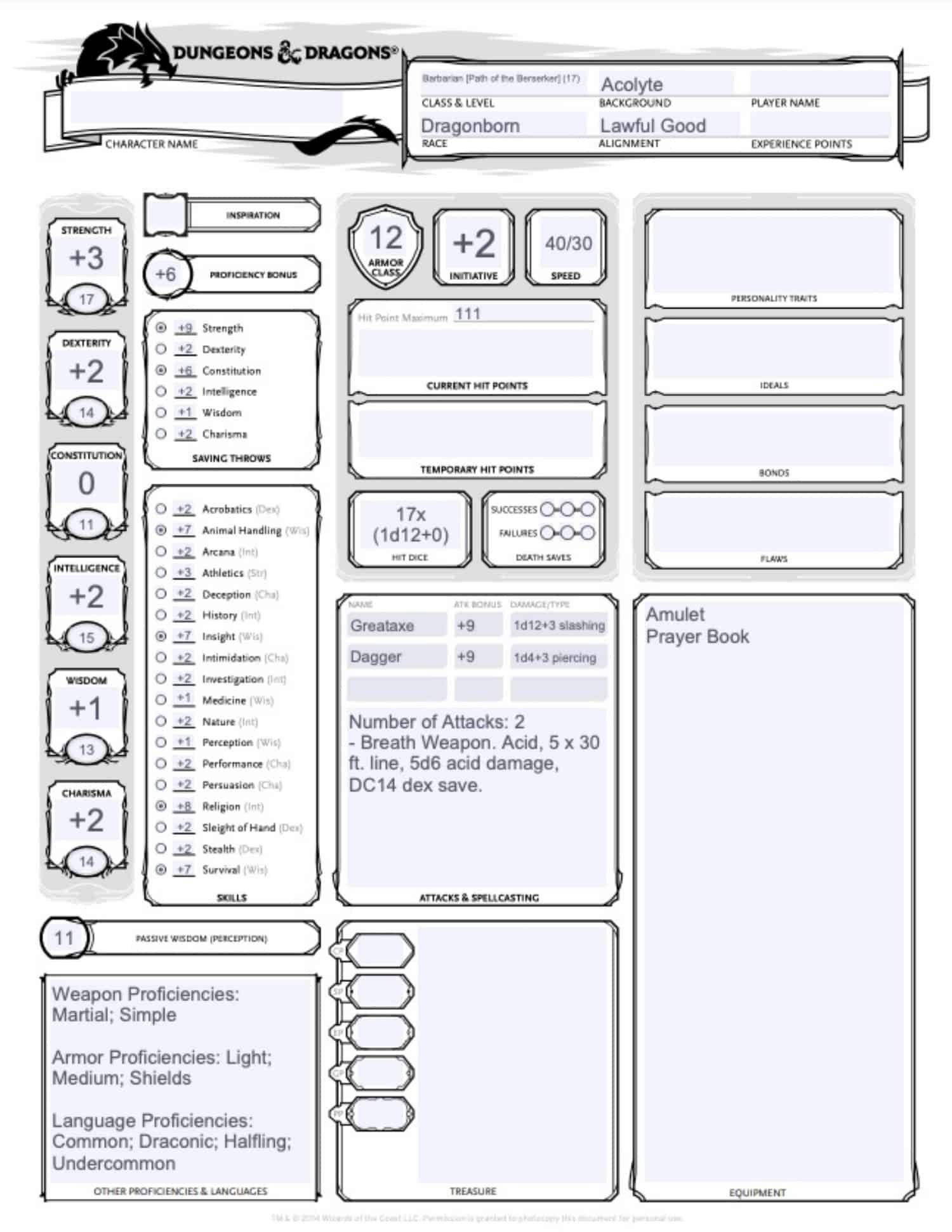 Dungeon Masters Vault Character Output 1
