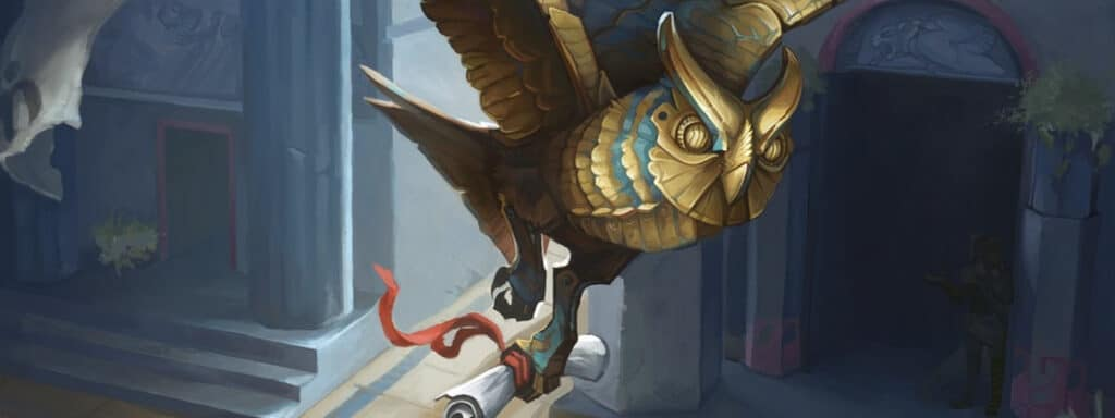 Familiar Flying With A Scroll