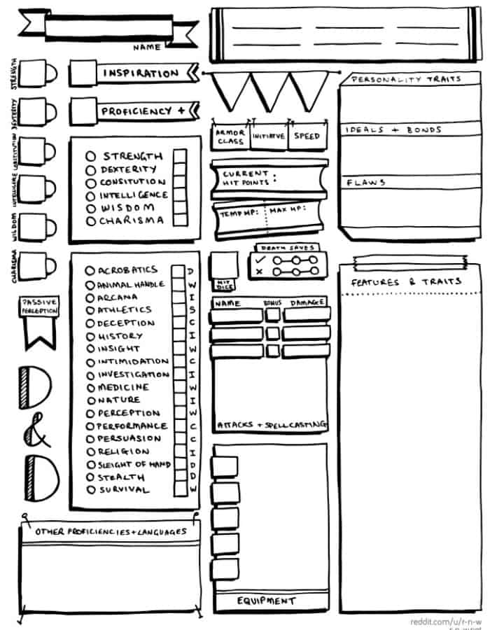 Louis-Philippe Breton's Character Sheets