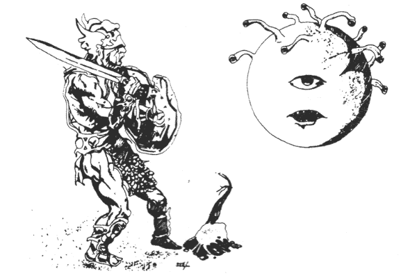 Original DnD Beholder Line Drawing