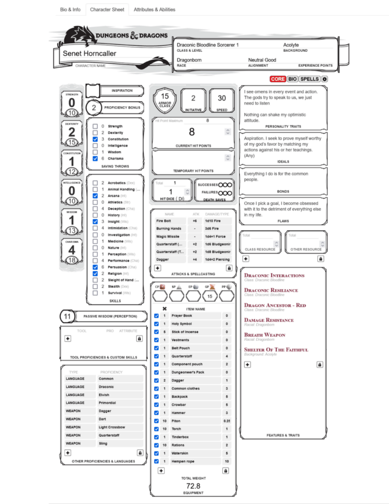 Roll20 CharactermancerRoll20 Charactermancer Output-1Output-1