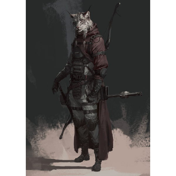 Tabaxi With Bow and Sword 5e