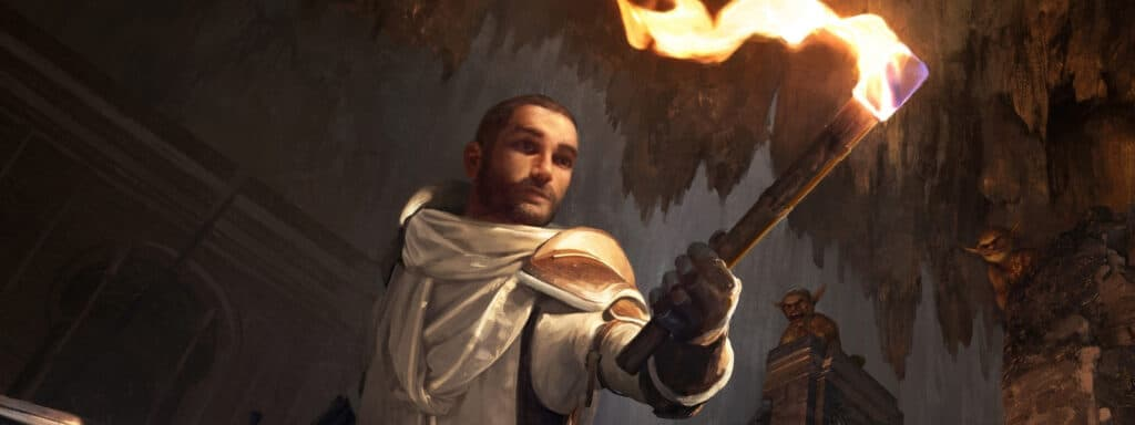 Variant Human 5e With Torch